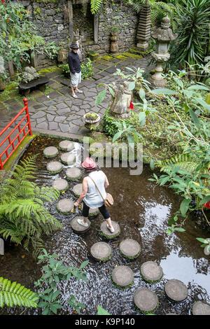 Monte Palace Tropical Garden (Japanese garden), Madeira, Portugal - Stock Photo