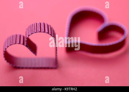 heart shape paper red - Stock Photo