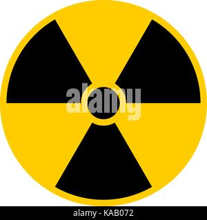 Use it in all your designs. Ionizing ionising radiation symbol attention danger warning sign. Quick and easy recolorable - Stock Photo