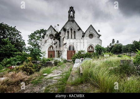 Derelict St Joseph's Parish Church in Barbados which suffered structural damage as a result of land slippage and - Stock Photo