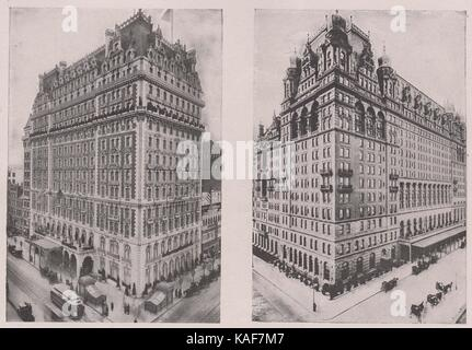 Knickerbocker Hotel, at the southeast corner of 42nd Street and Broadway, famous for its beautiful mural decorations; - Stock Photo