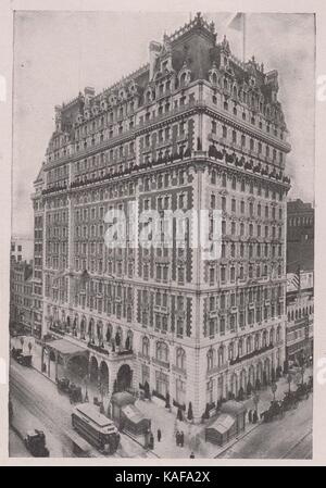 Knickerbocker Hotel, at the southeast corner of 42nd Street and Broadway, famous for its beautiful mural decorations - Stock Photo