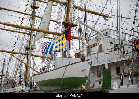 A.R.C. Gloria, training ship and the official flagship of the Colombian Navy, during a port visit to San Diego, - Stock Photo