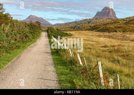 Loch Druim Suardalain, Assynt, Sutherland, Scotland, United Kingdom - Stock Photo