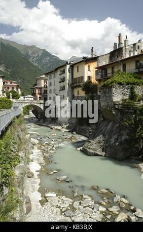 Terrace in the Mera, Chiavenna, Sondrio, Lombardy, Italy, - Stock Photo