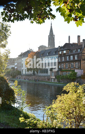 France, Bas Rhin, Strasbourg, old town listed as World Heritage by UNESCO, Notre Dame Cathedral - Stock Photo