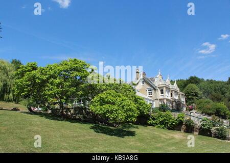 Manor house in Sevenoaks in summertime - Stock Photo