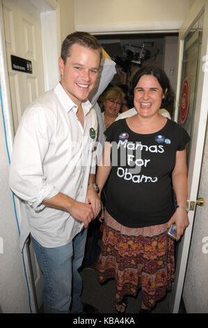 MIAMI BEACH, FL - DECEMBER 22: (EXCLUSIVE COVERAGE)  Matt Damon has taken another swipe at Barack Obama and dismissed - Stock Photo