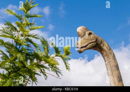 Replica Diplodocus dinosaur. - Stock Photo