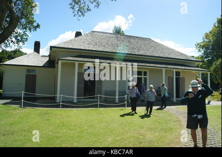 Waitangi Treaty House Waitangi, New Zealand - Stock Photo
