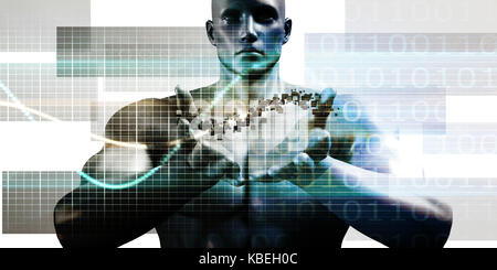 Futuristic Technology as a Next Generation Art - Stock Photo