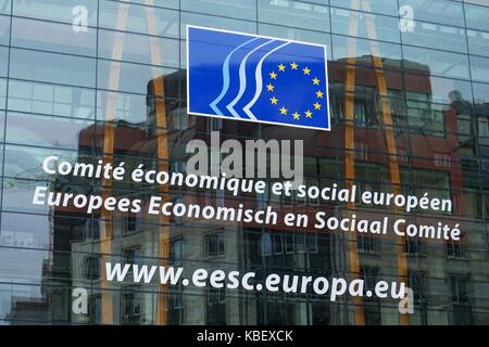 Belgium: The European Economic and Social Committee (EESC). The EESC is a consultative body of the European Union. - Stock Photo