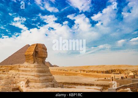 The sphinx in Cairo, Egypt - Stock Photo