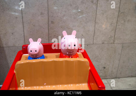 Peppa Pig ride inside Westfield shopping centre in Stratford, east London. - Stock Photo