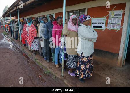Kenyan election, August 8, 2017, near Kitale Kenya - Stock Photo