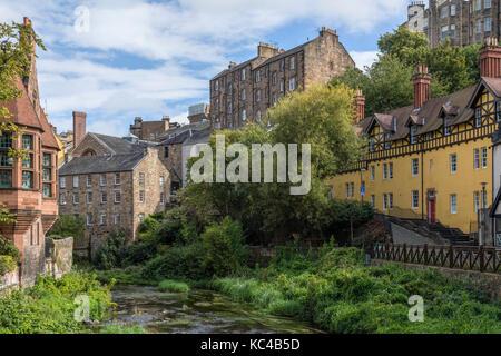Dean Village, Edinburgh, Lothian, Scotland, United Kingdom - Stock Photo