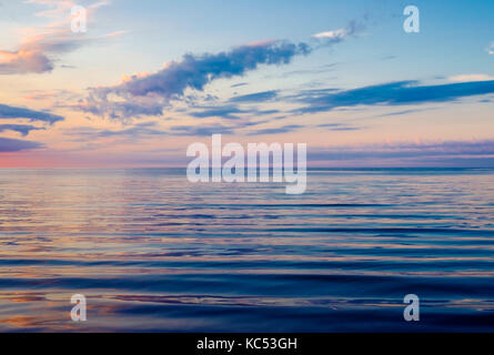 Evening at the Baltic Sea, Germany - Stock Photo