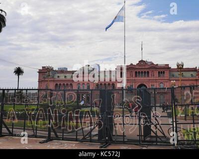 La Casa Rosada, Plaza de Mayo, Buenos Aires, Argentina - Stock Photo