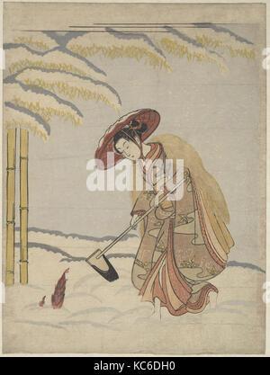 Meng Zong, from the series Twenty-four Paragons of Filial Piety, Suzuki Harunobu, ca. 1765 - Stock Photo