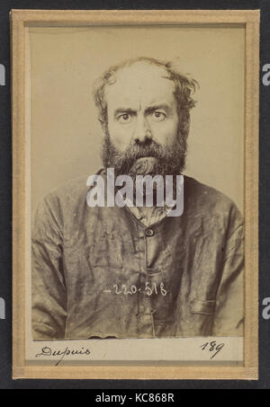 Dupuis. Augustin. 53 ans, né le 24/6/41 à Dourdan (Seine & Oise). Charron, forgeron. Anarchiste. 3/7/94., Alphonse - Stock Photo