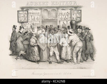 The Publisher Aubert (You must admit the government has a comic appearance), Charles-Joseph Traviès, 1831 - Stock Photo