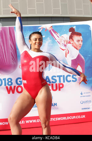 Midlands-based British Gymnastics stars Ellie Downie pictured and Kristian Thomas officially announced that Birmingham - Stock Photo