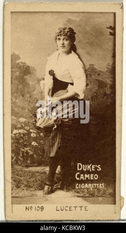 Drawings and Prints, Photograph, Card Number 109, Lucette, from the Actors and Actresses series issued by Duke Sons - Stock Photo