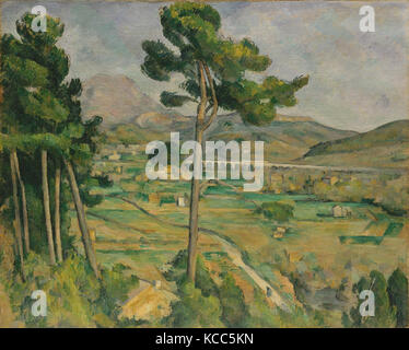 Mont Sainte-Victoire and the Viaduct of the Arc River Valley, Paul Cézanne, 1882–85 - Stock Photo