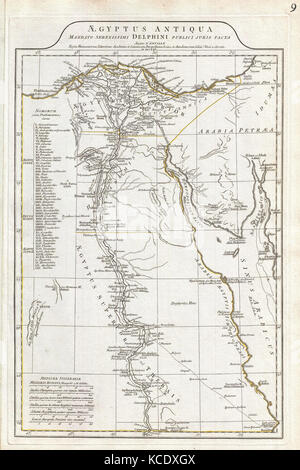 1794, Anville Map of Ancient Egypt - Stock Photo