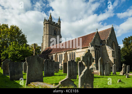 St Mary's church in Chiddingstone village, Kent, England. - Stock Photo