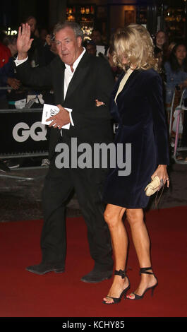 Sep 05, 2017 - Jeremy Clarkson and Lisa Hogan attending GQ Men of The Year Awards 2017, Tate Modern in London, England, - Stock Photo