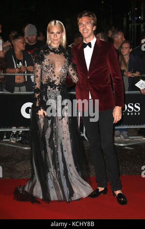 Sep 05, 2017 - Poppy Delevingne and James Cook attending GQ Men of The Year Awards 2017, Tate Modern in London, - Stock Photo