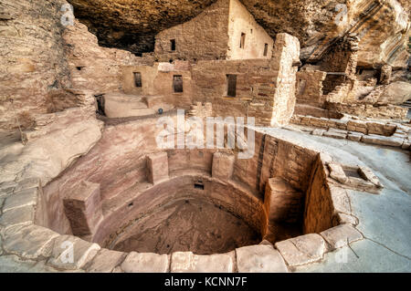 Spruce Tree House, Mesa Verde National Park, Colorado, USA - Stock Photo