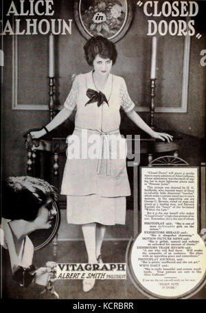 Closed Doors (1921)   3 - Stock Photo