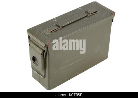 .30 Cal Metal Ammo Can - Stock Photo