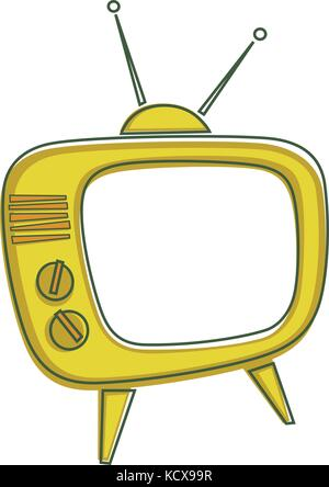 Vector illustration of a TV set in the 1950's style - Stock Photo