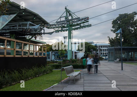 View of the Aerial lift mechanisms in Funchal city - Stock Photo