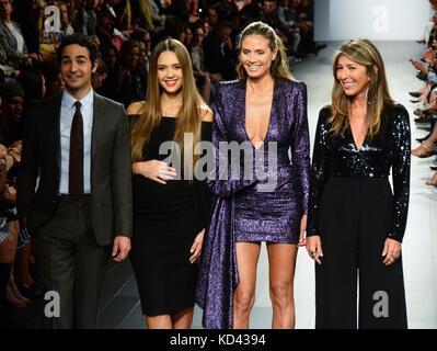 The Project Runway 2017 NYFW  Featuring: Zac Posen, Jessica Alba, Heidi Klum, Nina Garcia Where: NYC, New York, - Stock Photo