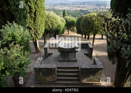 Park in Fiesole and City of Firenze (Florence) seen from above. Fiesole, Tuscany, Italy. 26 August 2017 © Wojciech - Stock Photo