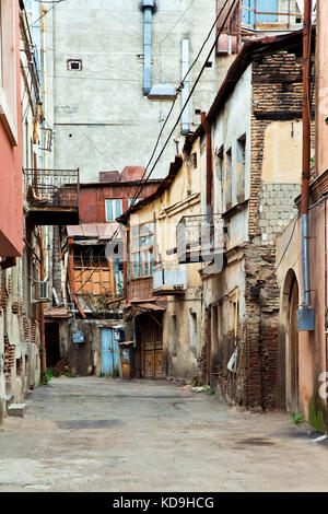 Old houses in Tbilisi, Georgia - Stock Photo
