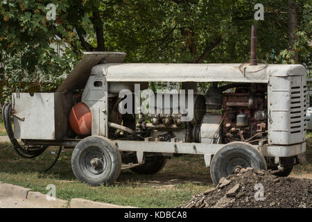 Compressor for air supply to a jackhammer - Stock Photo