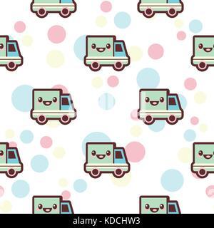 Baby boy seamless pattern - Stock Photo