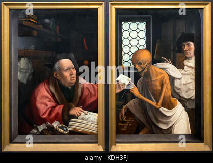 Death and the Miser by Jan Provoost (1462-1529), oil on panel, c.1515-1521 - Stock Photo