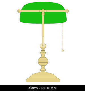 table top lamp with black colored outline - Stock Photo