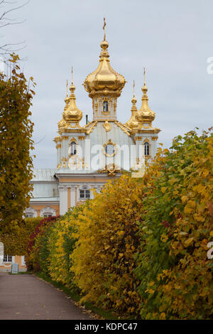 Palace Church, Petergof, Saint Petersburg, Russia. - Stock Photo