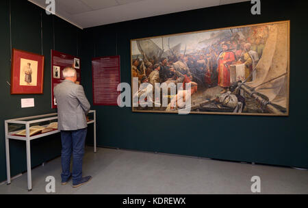 "Exhibition ""To preserve the treasures of Cossacks for centuries"", the Kyiv History Museum. October 12, 2017. Kyiv, - Stock Photo"