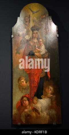 """The Madonna"", Borovikovsky Vladimir, 1787. Exhibition, the Kyiv History Museum. October 12, 2017. Kyiv, Ukraine. - Stock Photo"