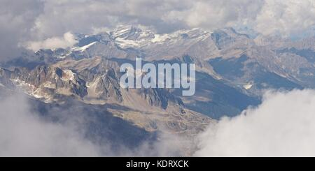 The view from Aiguille du Midi - Stock Photo