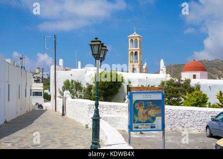 Panagia Tourliani monastery Ano Mera, Mykonos, Cyclades, Aegean, Greece, Europe - Stock Photo