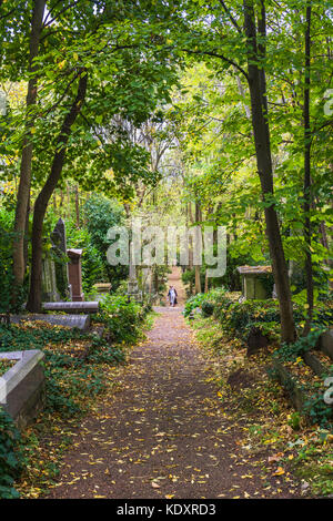 Highgate Cemetery East in North London during autumn, London, England, UK - Stock Photo